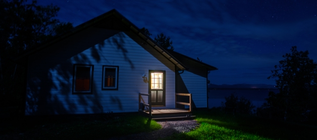 House at Night, Charlotte Vermont-